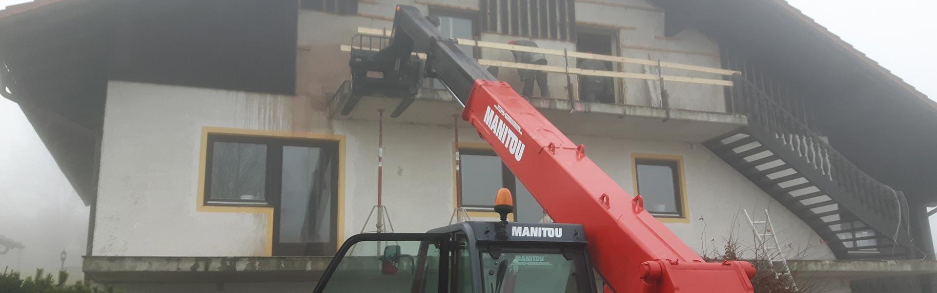 Balkonrückbau mit der Schlögl Bau GbR in Stubenberg