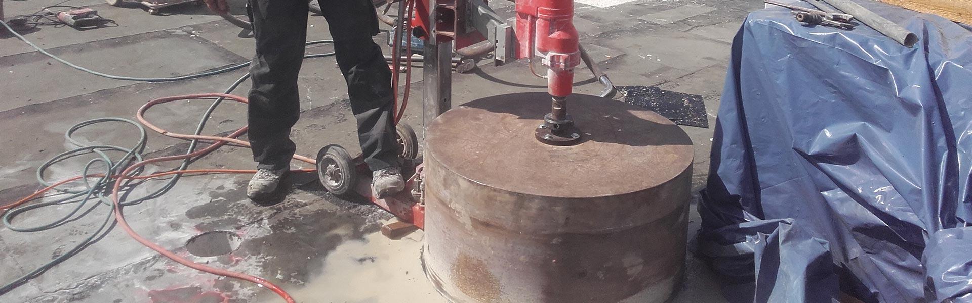 Kernbohrungen bei der Schlögl Bau GbR in Stubenberg