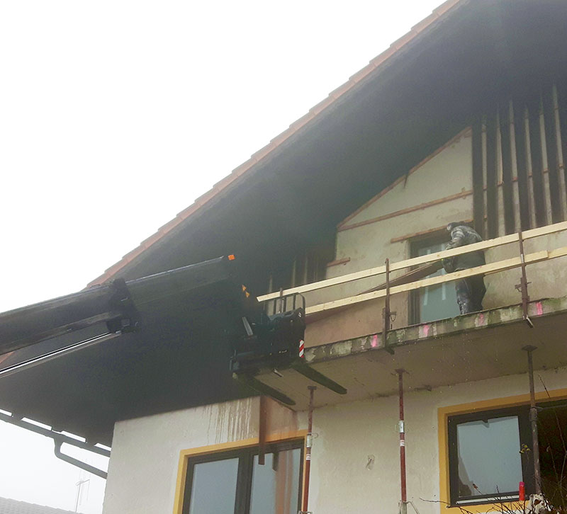 Balkonrückbau